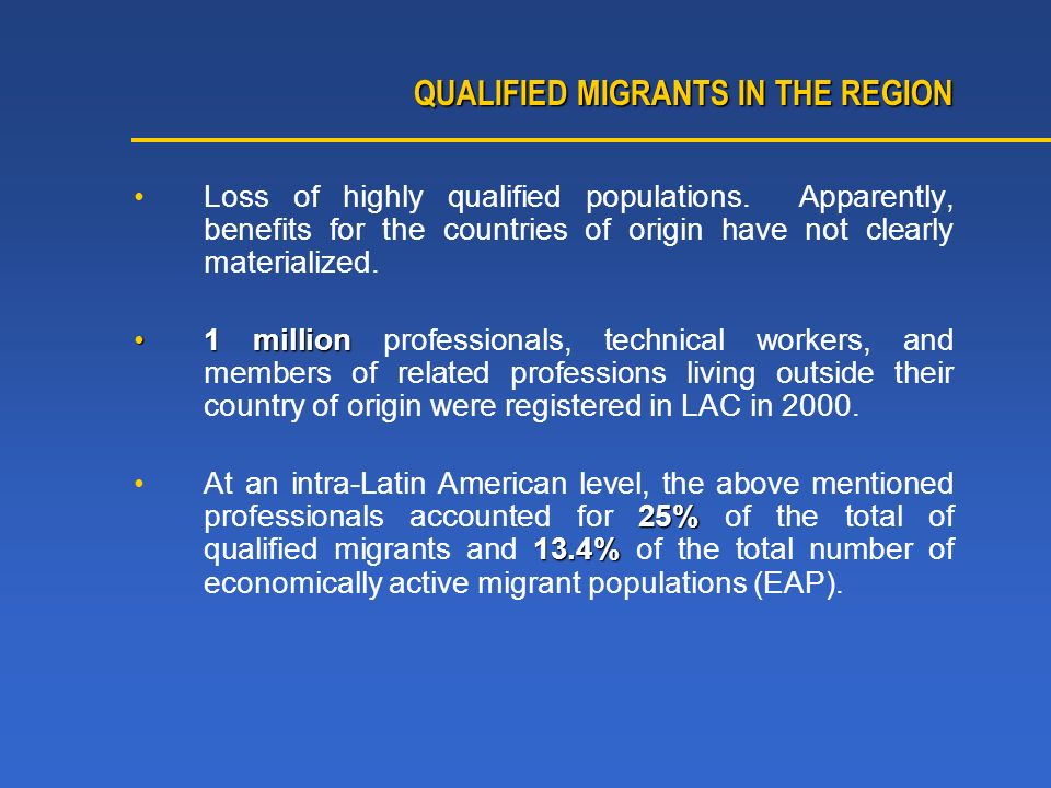 Loss of highly qualified populations.