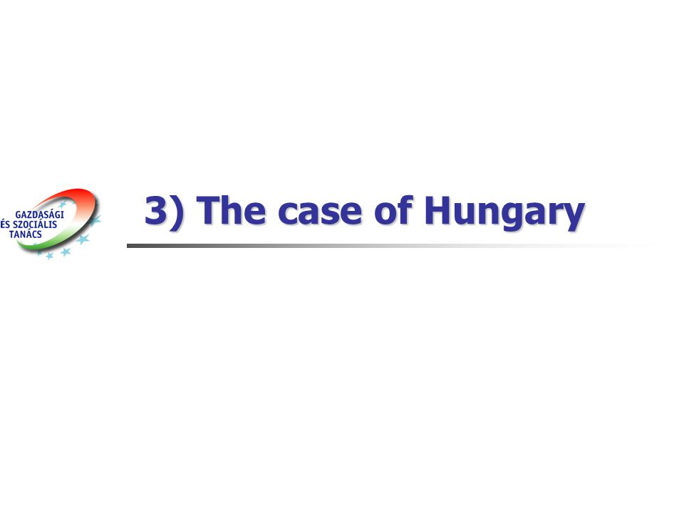 3) The case of Hungary