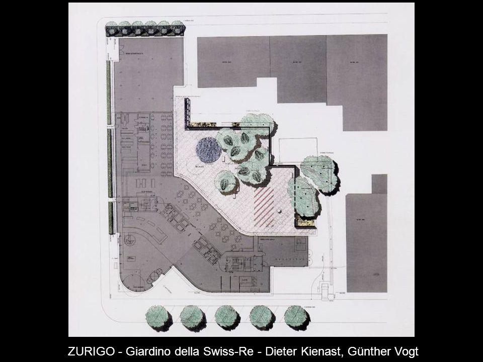 ZURIGO - Giardino della Swiss-Re - Dieter Kienast, Günther Vogt