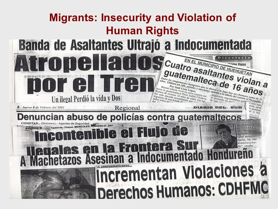 Migrants: Insecurity and Violation of Human Rights