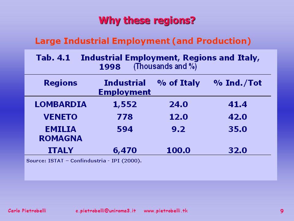 Carlo Pietrobelli c.pietrobelli@uniroma3.it www.pietrobelli.tk 9 Why these regions.