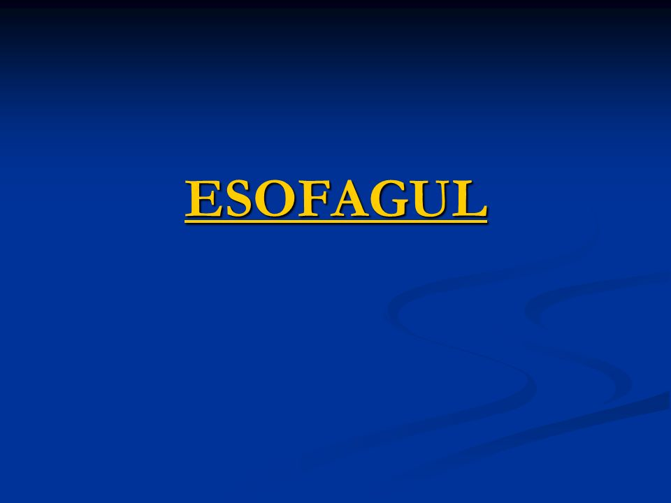 ESOFAGUL