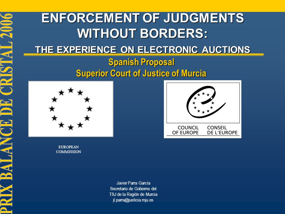 Why this initiative?...Why this initiative?... When facing enforcement of judgments & orders...