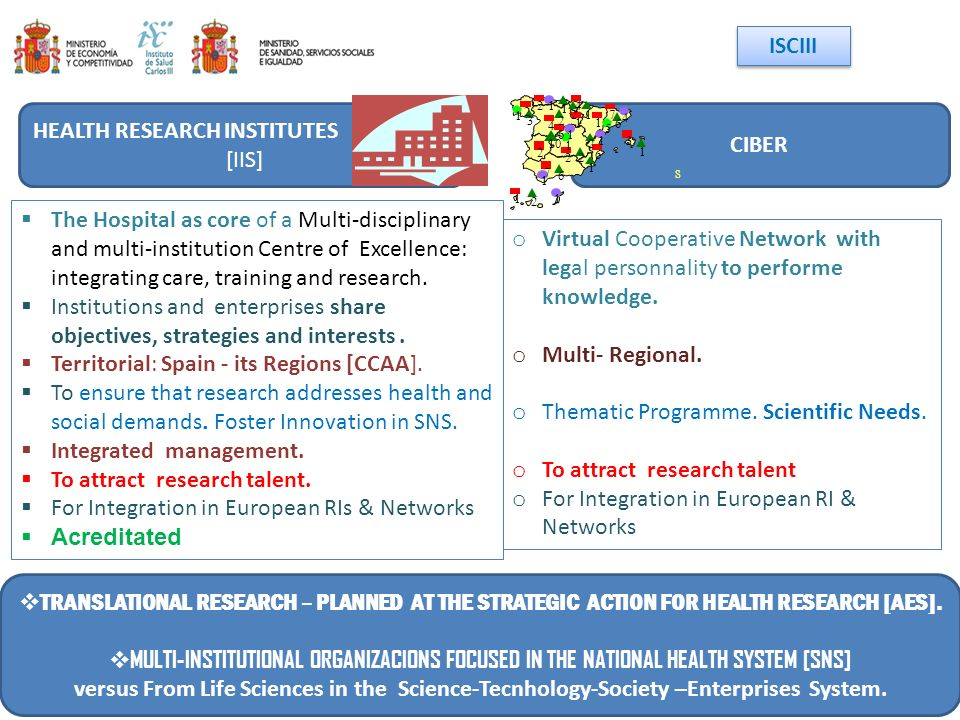 The Hospital as core of a Multi-disciplinary and multi-institution Centre of Excellence: integrating care, training and research. Institutions and ent