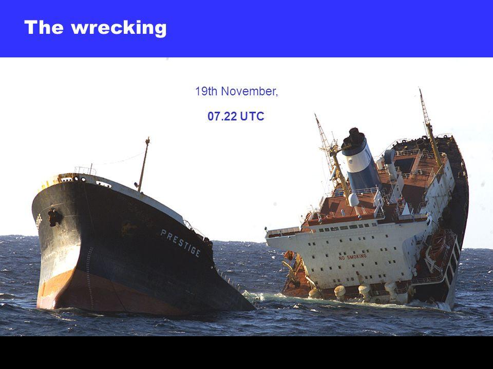 The wrecking 19th November, 07.22 UTC