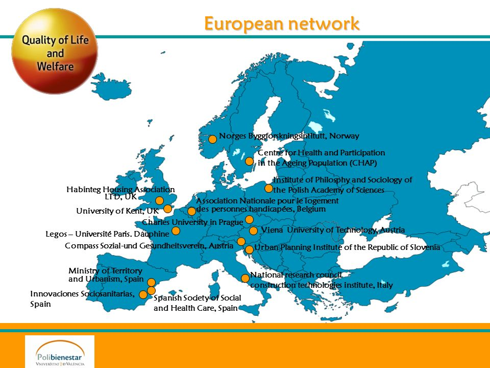 European network University of Kent, UK Compass Sozial-und Gesundheitsverein, Austria Spanish Society of Social and Health Care, Spain Association Nat