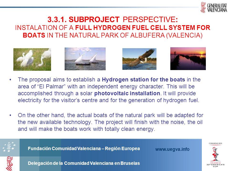 Fundación Comunidad Valenciana – Región Europea Delegación de la Comunidad Valenciana en Bruselas www.uegva.info The proposal aims to establish a Hydr