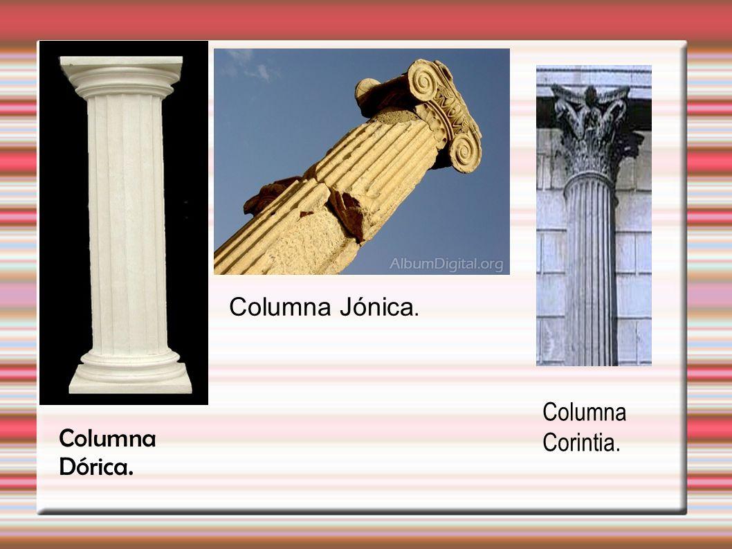 Columna Dórica. Columna Jónica. Columna Corintia.