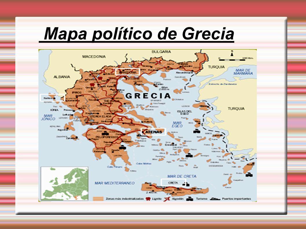 Mapa político de Grecia