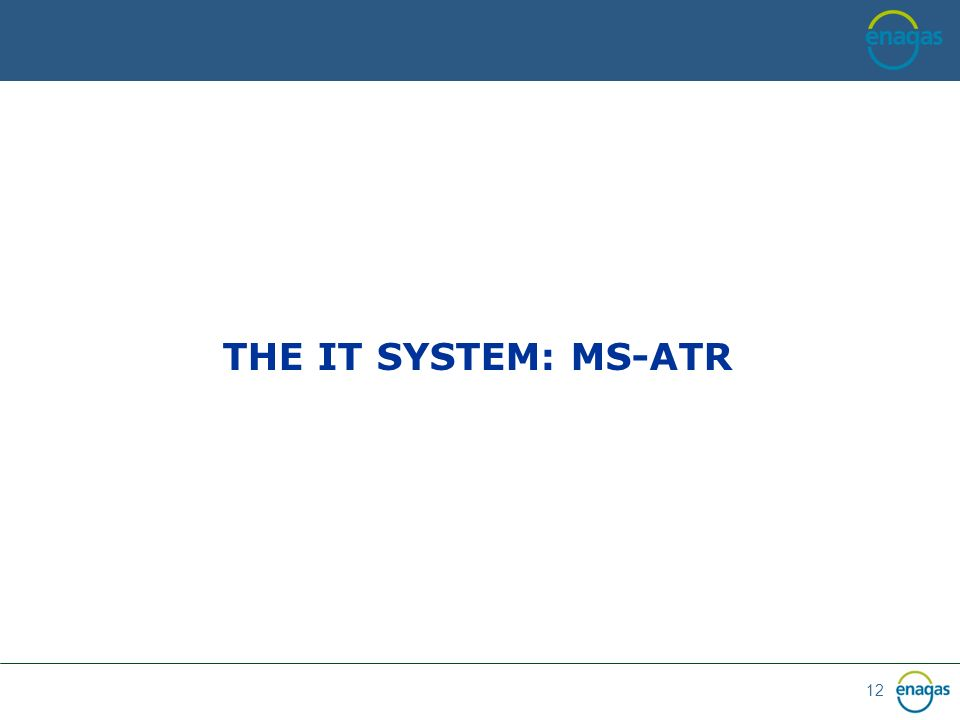 12 THE IT SYSTEM: MS-ATR