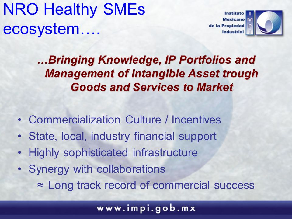 NRO Healthy SMEs ecosystem….
