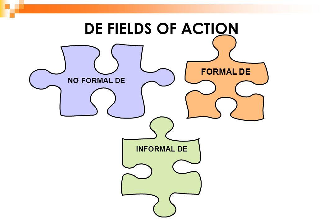 DE FIELDS OF ACTION FORMAL DE INFORMAL DE NO FORMAL DE