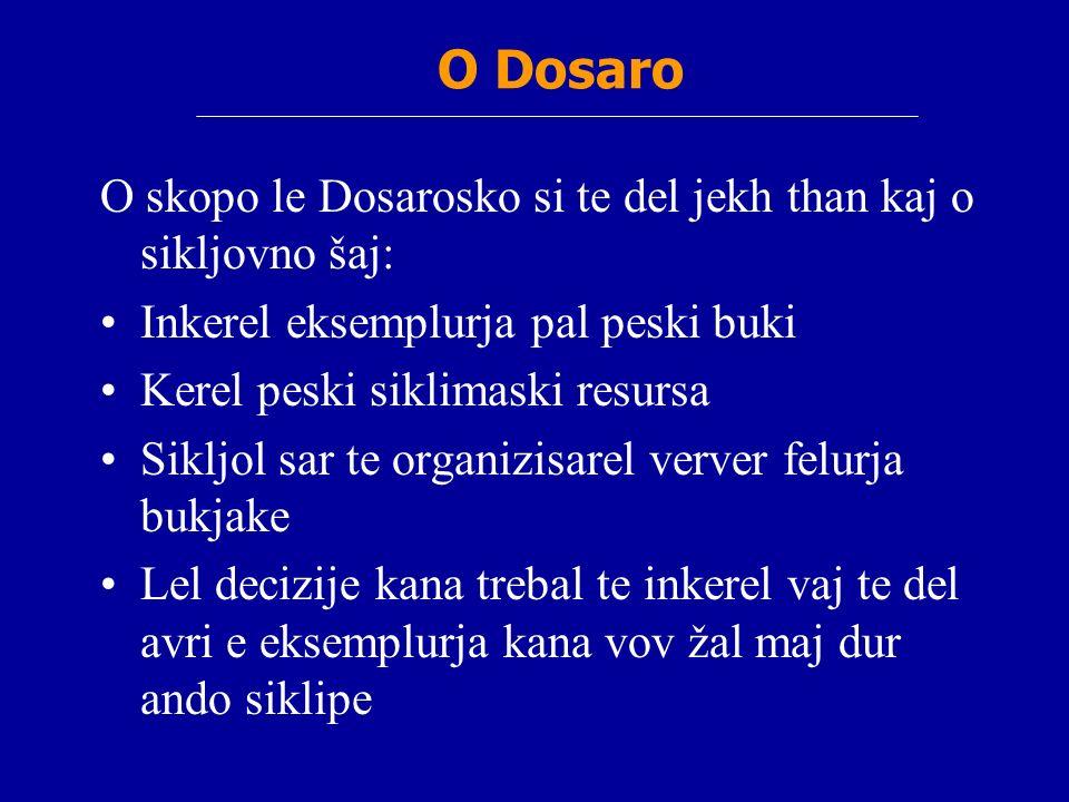O Dosaro O skopo le Dosarosko si te del jekh than kaj o sikljovno šaj: Inkerel eksemplurja pal peski buki Kerel peski siklimaski resursa Sikljol sar t