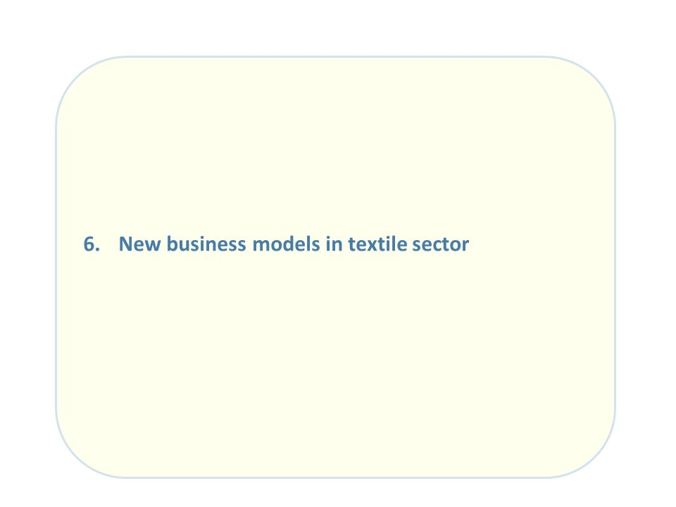 6. New business models in textile sector