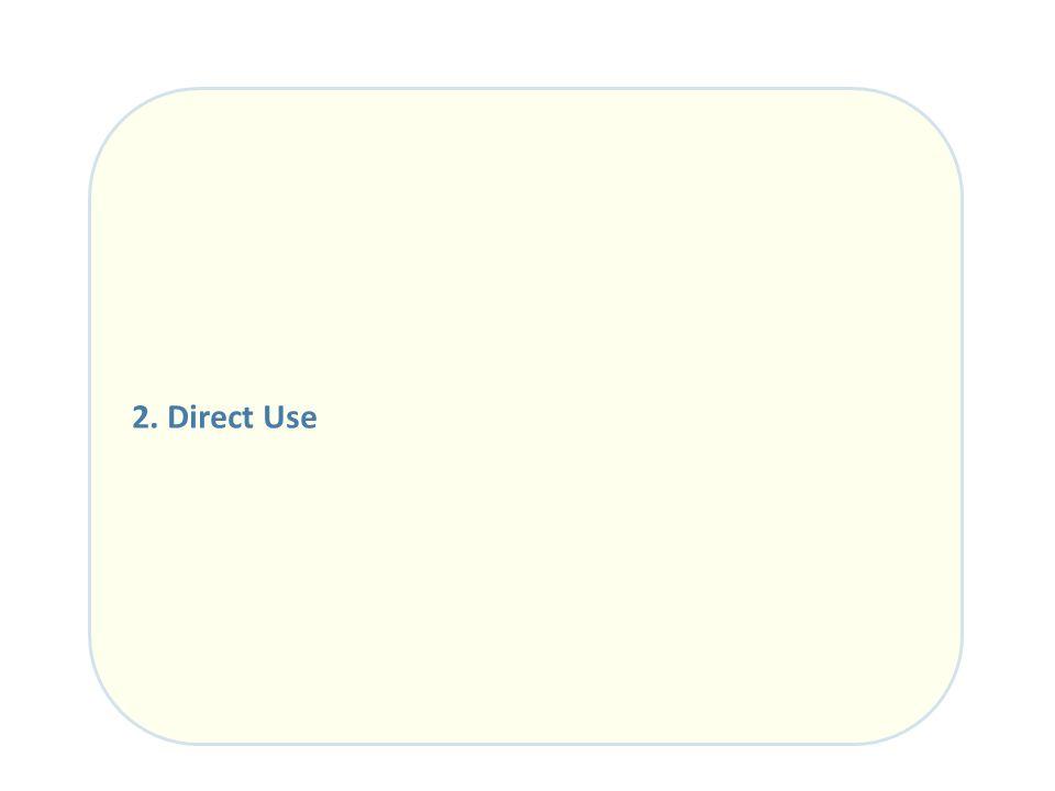 2. Direct Use