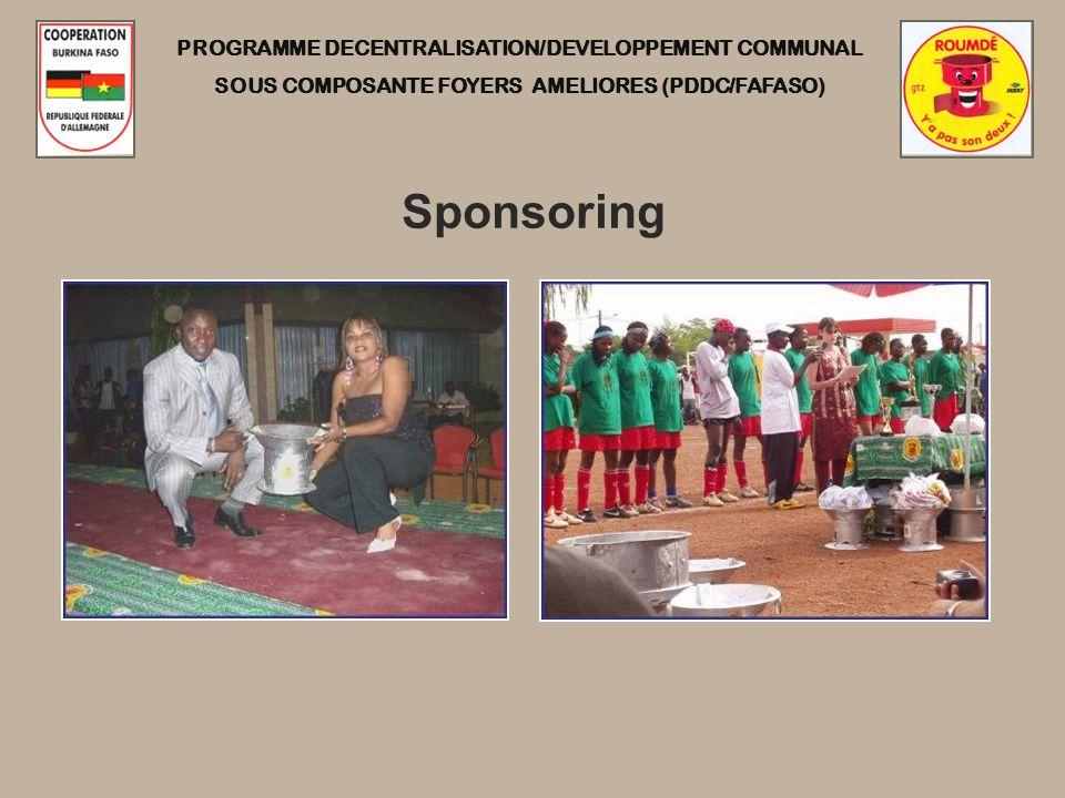 PROGRAMME DECENTRALISATION/DEVELOPPEMENT COMMUNAL SOUS COMPOSANTE FOYERS AMELIORES (PDDC/FAFASO) Sponsoring