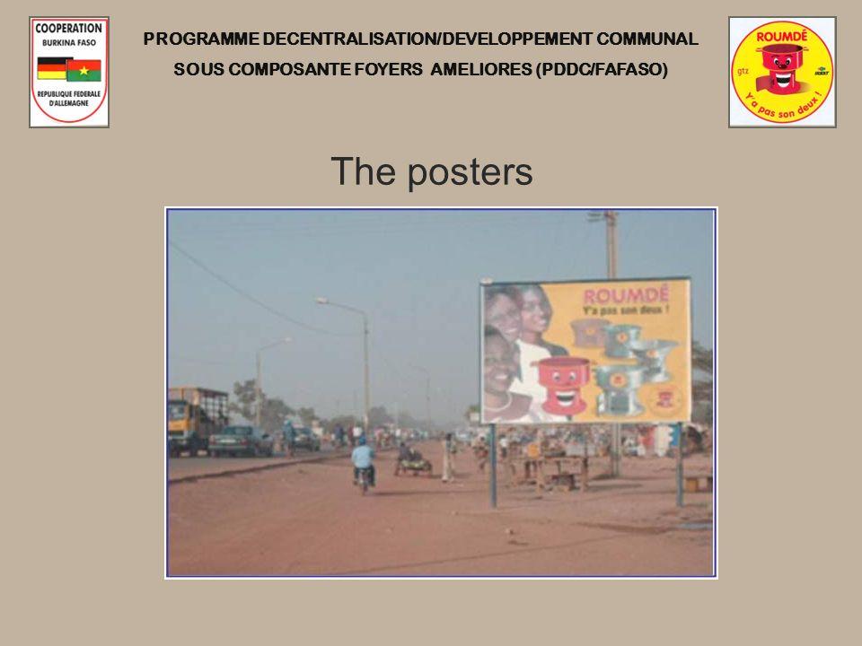 PROGRAMME DECENTRALISATION/DEVELOPPEMENT COMMUNAL SOUS COMPOSANTE FOYERS AMELIORES (PDDC/FAFASO) The posters