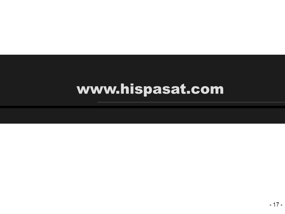 - 17 - www.hispasat.com