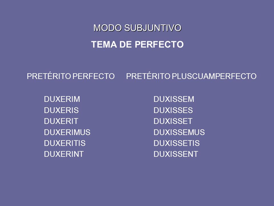 MODO INDICATIVO CUARTA CONJUGACIÓN MODO INDICATIVO TEMA DE PRESENTE PRESENTEPRETÉRITO IMPERFECTO AUDIOAUDIREM AUDISAUDIRES AUDITAUDIRET AUDIMUSAUDIREMUS AUDITISAUDIRETIS AUDIUNTAUDIRENT FUTURO IMPERFECTO AUDIAM AUDIES AUDIET AUDIEMUS AUDIETIS AUDIENT