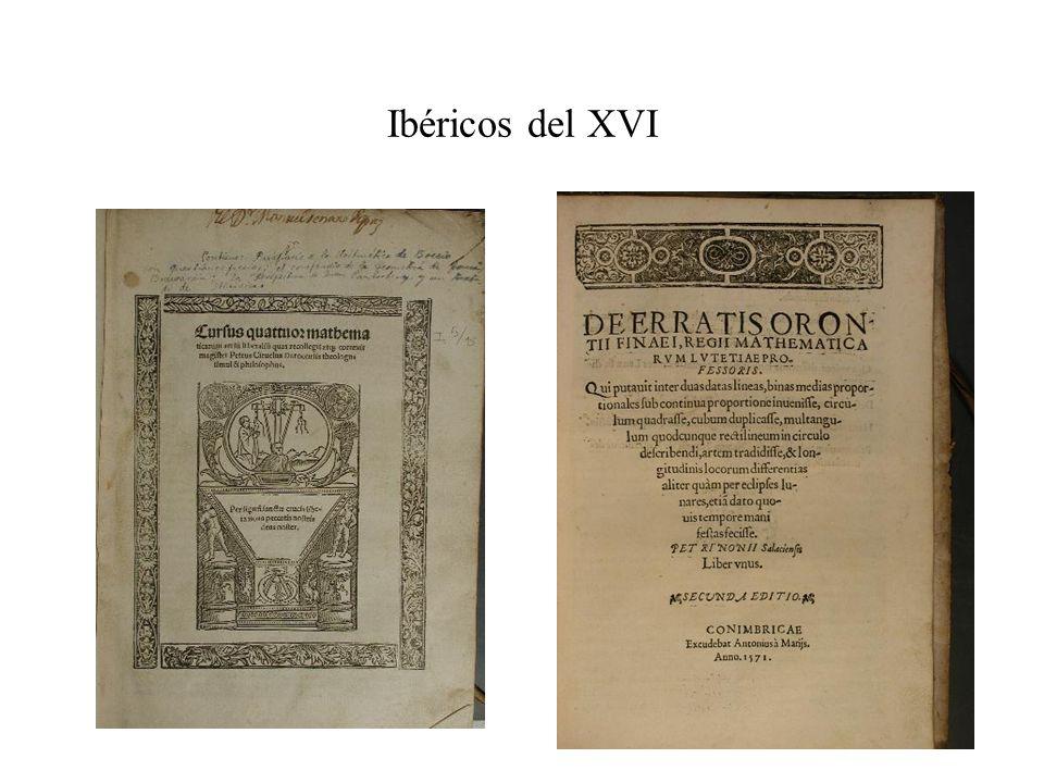 Ibéricos del XVI