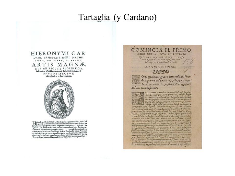 Tartaglia (y Cardano)