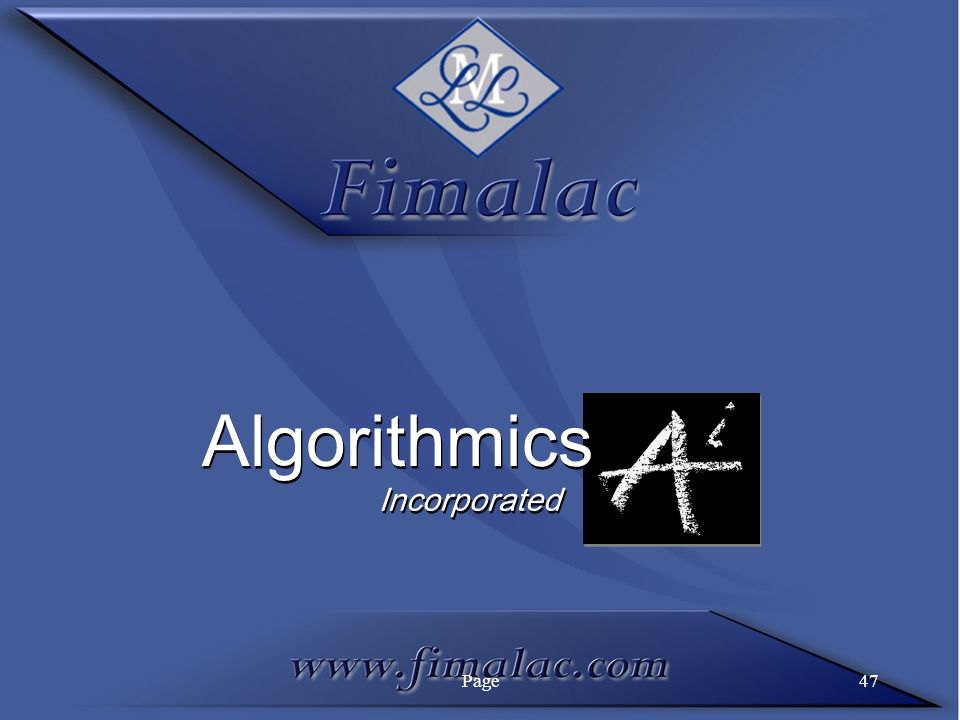 Page47 Algorithmics Incorporated