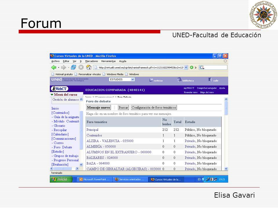 Elisa Gavari UNED-Facultad de Educación Forum