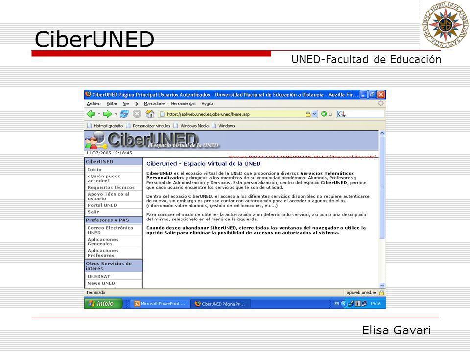 Elisa Gavari UNED-Facultad de Educación CiberUNED
