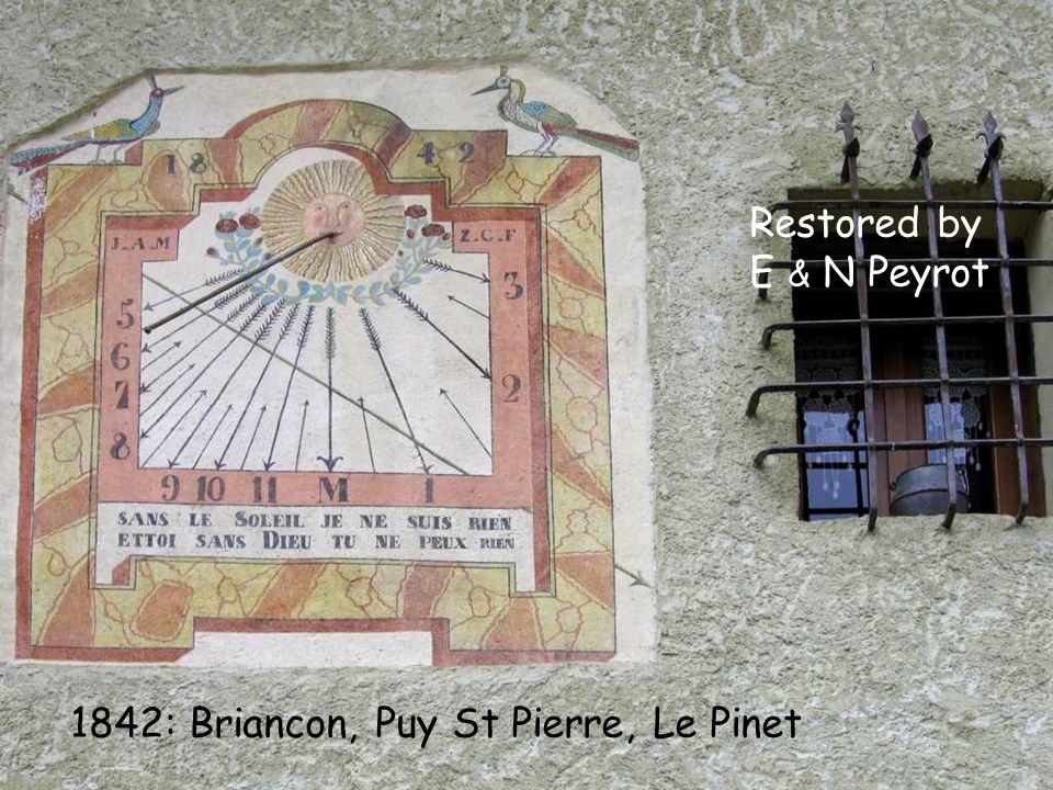 1842: Briancon, Puy St Pierre, Le Pinet Restored by E & N Peyrot