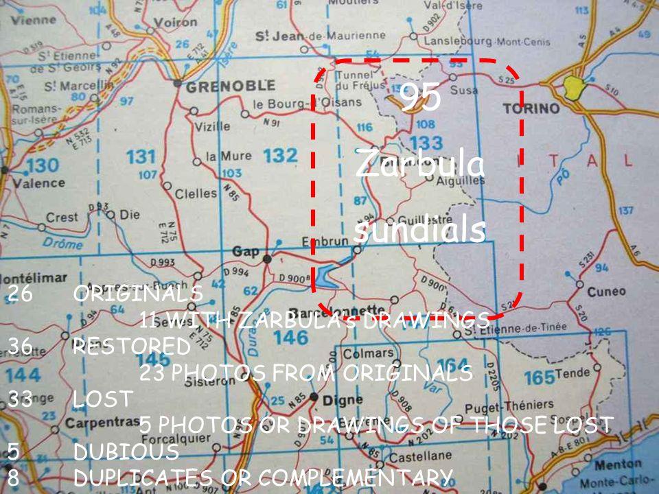 XII Center of sundial C NOON LINE XII S SUB-STYLE Zarbulas Method