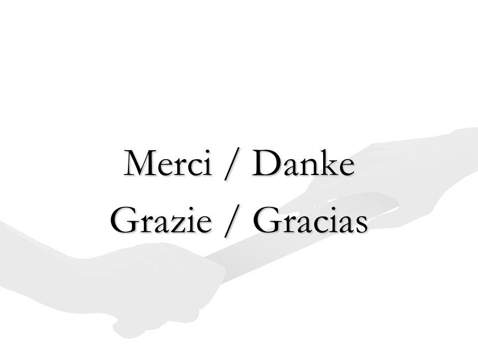 Merci / Danke Grazie / Gracias