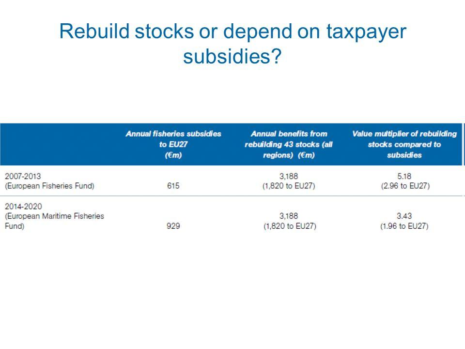 Rebuild stocks or depend on taxpayer subsidies?