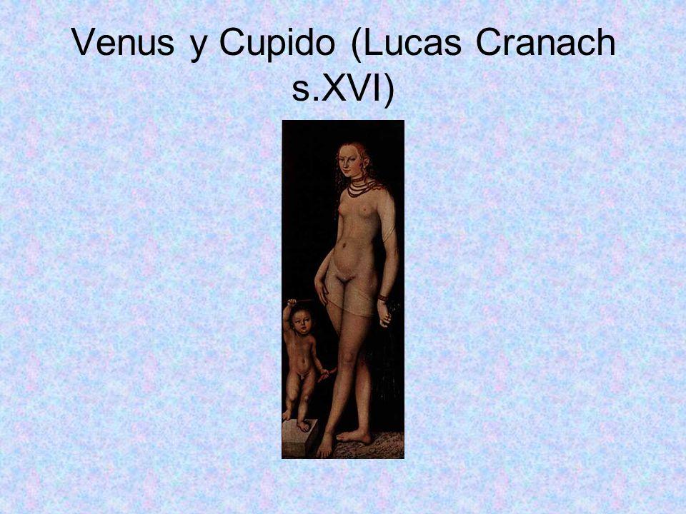 Venus y Cupido (Lucas Cranach s.XVI)