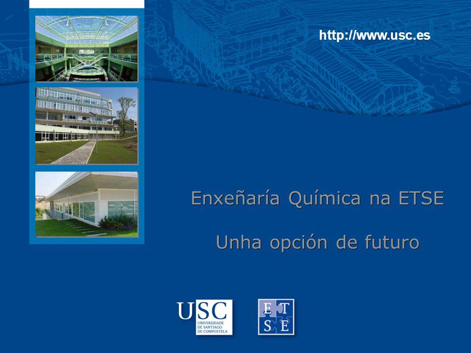 http://www.usc.es Enxeñaría Química na ETSE Unha opción de futuro Enxeñaría Química na ETSE Unha opción de futuro