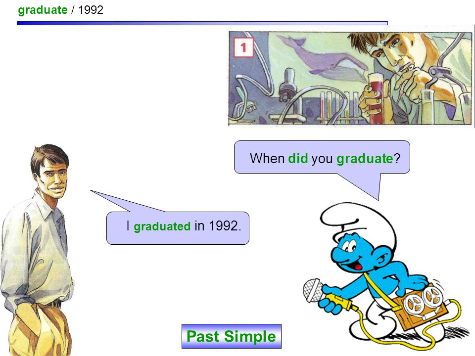 year / graduate ? When did you graduate ? Past Simple