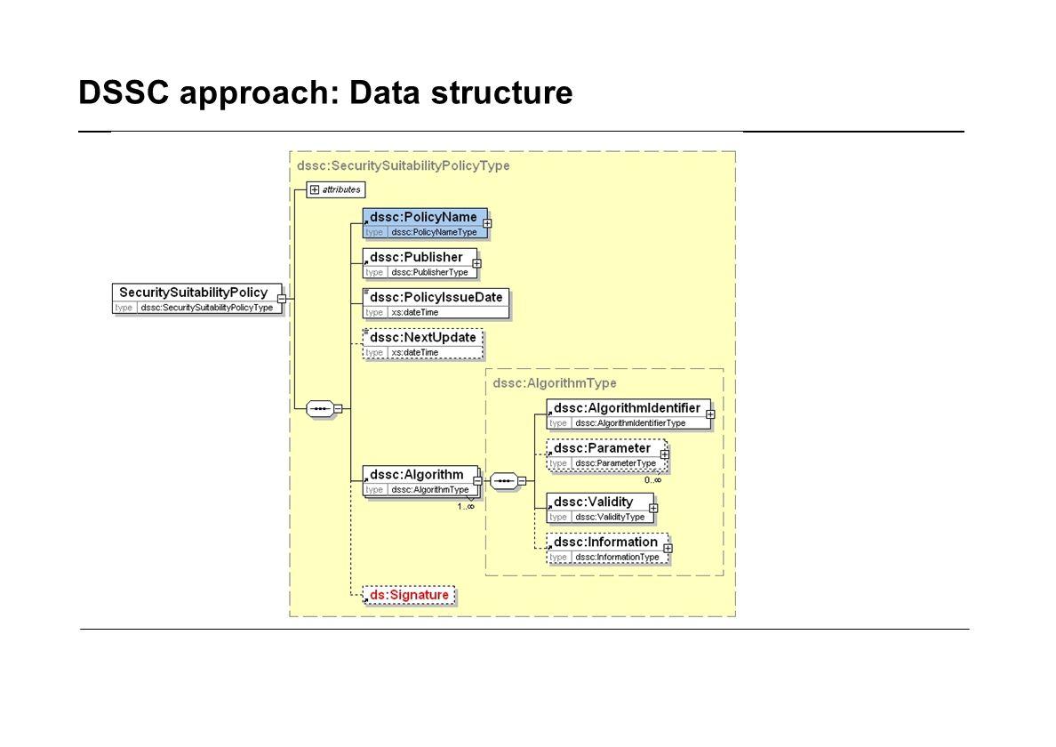 DSSC approach: Data structure