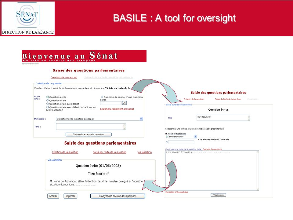 BASILE : A tool for oversight