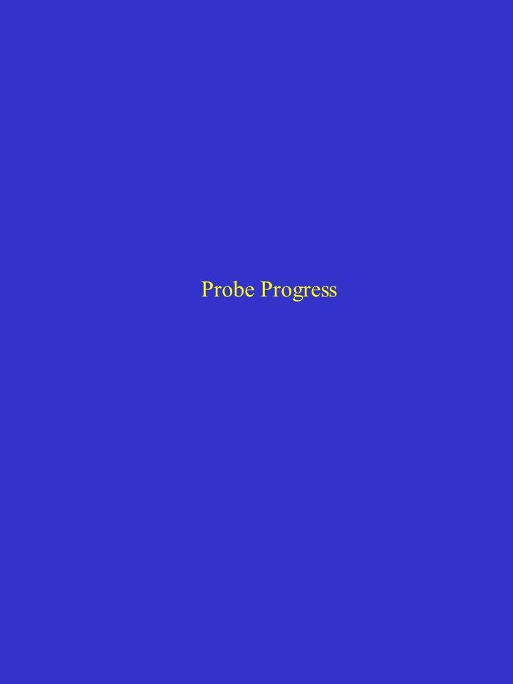 Probe Progress