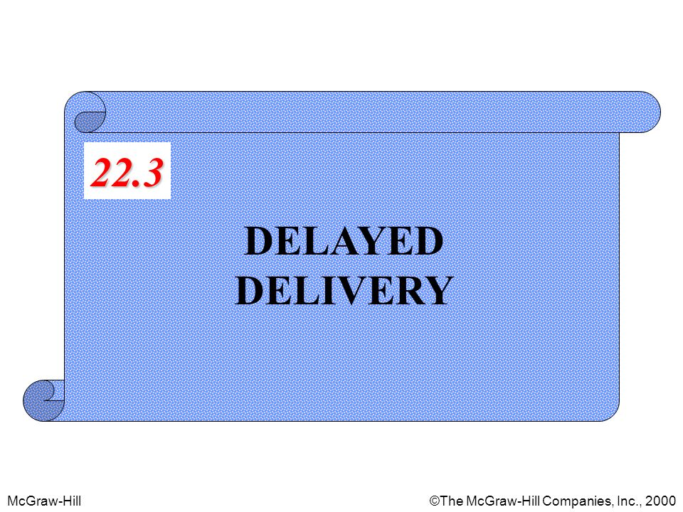 McGraw-Hill©The McGraw-Hill Companies, Inc., 2000 DELAYED DELIVERY 22.3