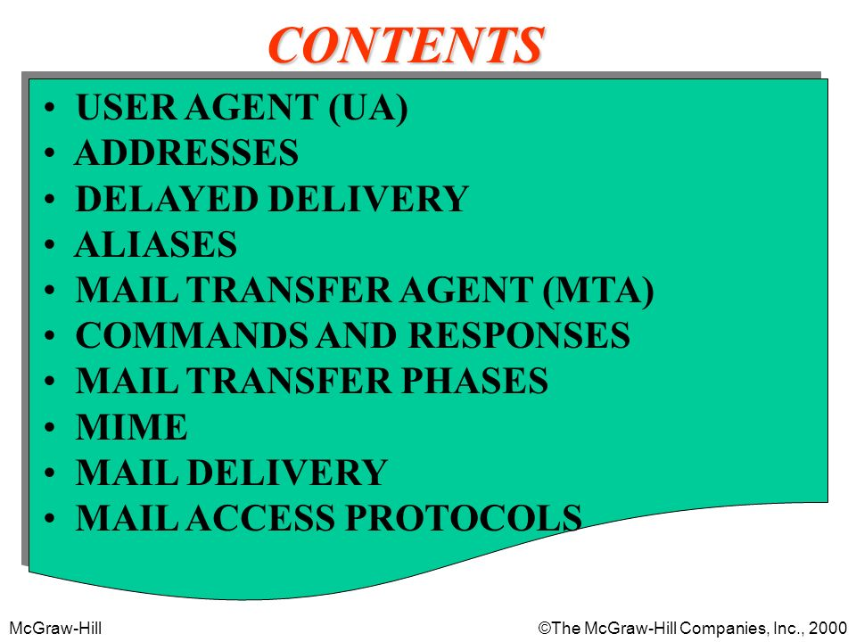 McGraw-Hill©The McGraw-Hill Companies, Inc., 2000 MAIL TRANSFER PHASES 22.7
