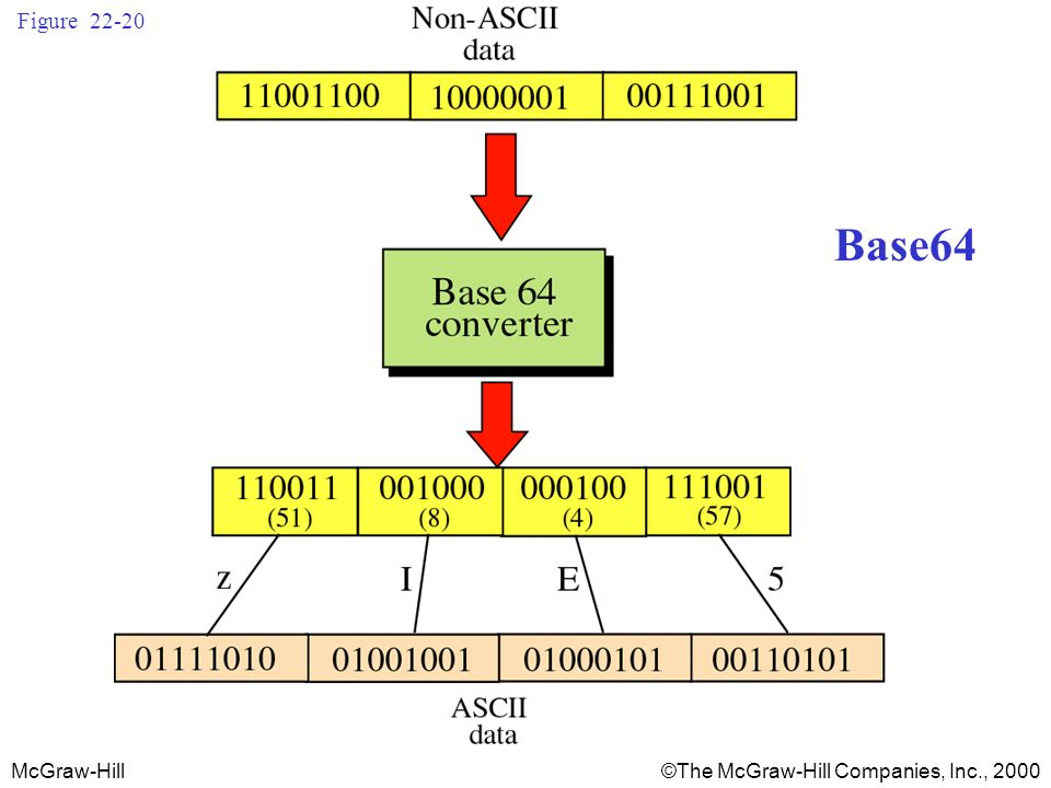 McGraw-Hill©The McGraw-Hill Companies, Inc., 2000 Figure 22-20 Base64