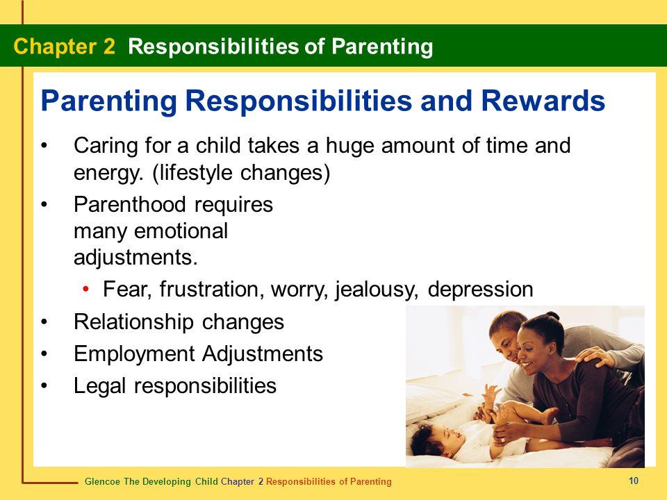 Glencoe The Developing Child Chapter 2 Responsibilities of Parenting Chapter 2 Responsibilities of Parenting 10 Parenting Responsibilities and Rewards