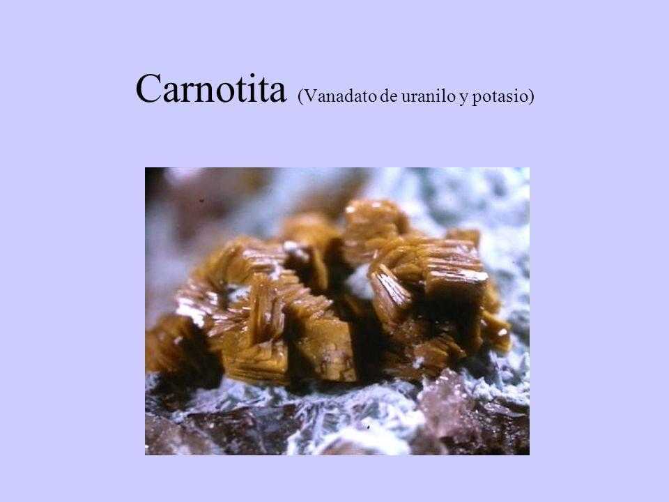 Carnotita (Vanadato de uranilo y potasio)