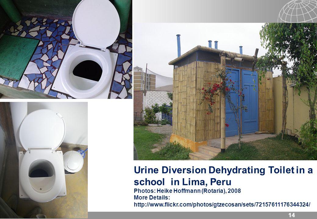 14 Urine Diversion Dehydrating Toilet in a school in Lima, Peru Photos: Heike Hoffmann (Rotaria), 2008 More Details: http://www.flickr.com/photos/gtze