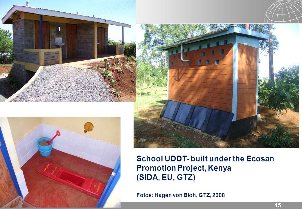 15 School UDDT- built under the Ecosan Promotion Project, Kenya (SIDA, EU, GTZ) Fotos: Hagen von Bloh, GTZ, 2008