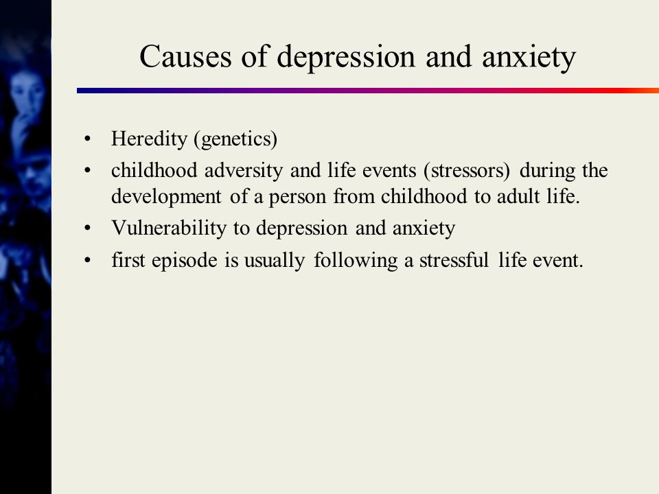 Current life conditions Causes of depression childhood stressful life events Thinking Belief systems Basic assumptions Body functions vegetative symptoms STRESS BRAIN heredity