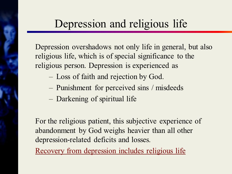Anxiety Disorders / Neurotic Disorders Anxiety leads to conflict-prone functioning Conflicts between EGO, ID, and SUPER-EGO Super-Ego (Ideal Ego) can be formed in a negative way by religion.