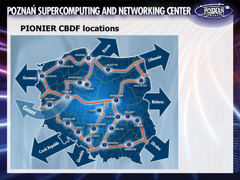 PIONIER CBDF locations