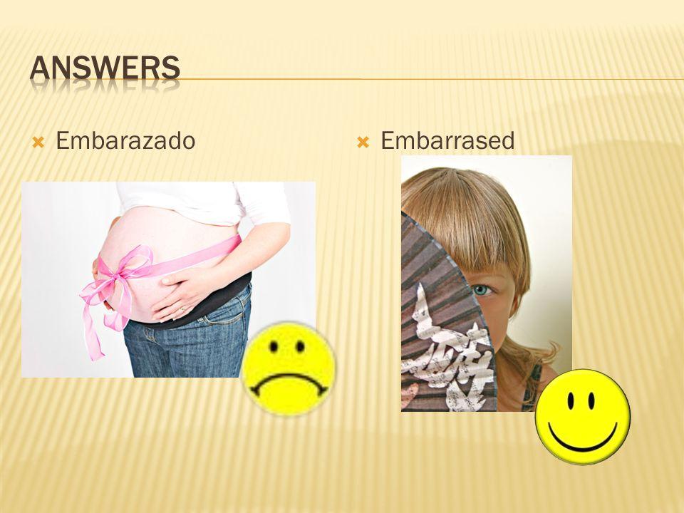Embarazado Embarrased