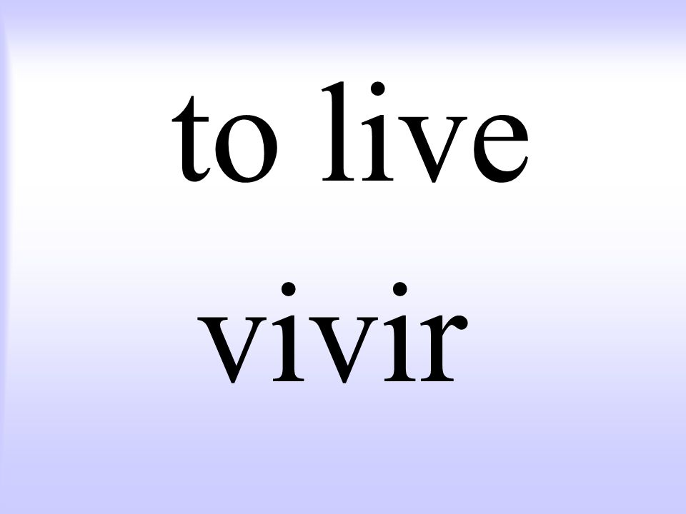to live vivir